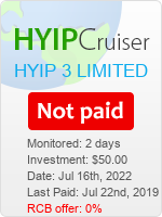 ссылка на мониторинг https://www.hyip-cruiser.com/?a=details&lid=7441