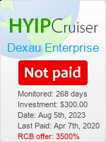 ссылка на мониторинг https://www.hyip-cruiser.com/?a=details&lid=7450