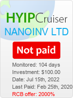 ссылка на мониторинг https://www.hyip-cruiser.com/?a=details&lid=7746