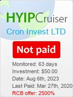 ссылка на мониторинг https://www.hyip-cruiser.com/?a=details&lid=7905