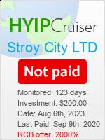 ссылка на мониторинг https://www.hyip-cruiser.com/?a=details&lid=8075