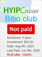 ссылка на мониторинг https://www.hyip-cruiser.com/?a=details&lid=8095