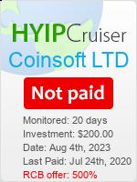 ссылка на мониторинг https://www.hyip-cruiser.com/?a=details&lid=8157